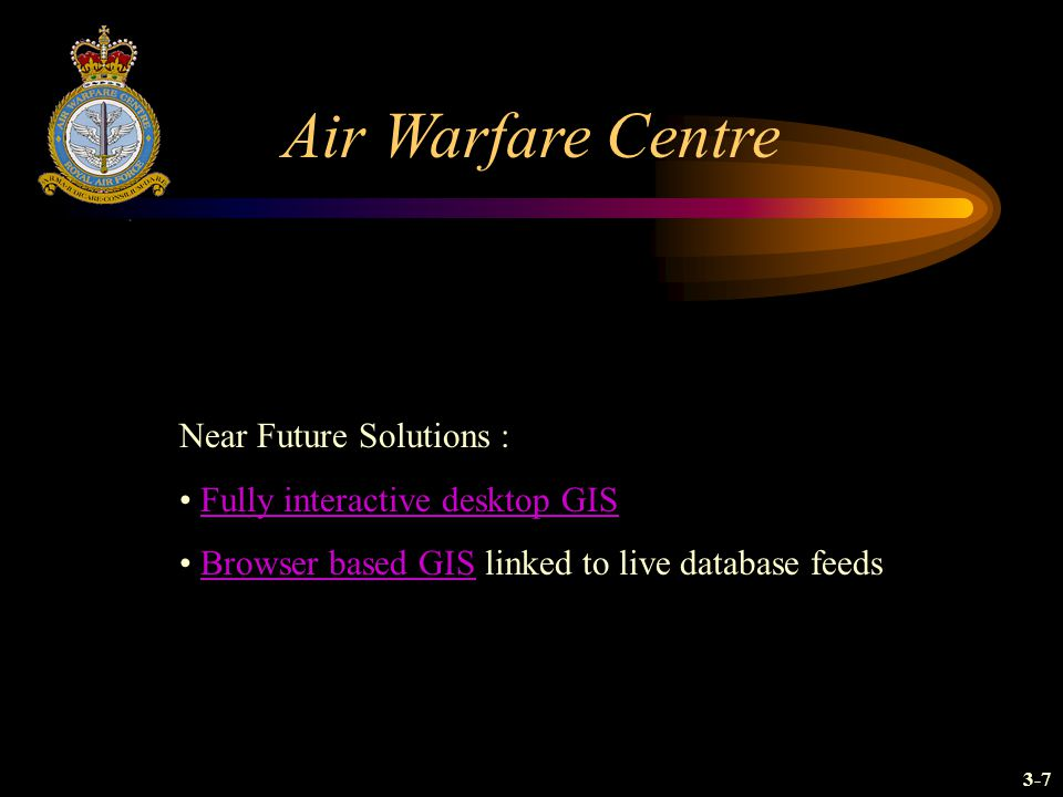 Air Warfare Centre Near Future Solutions :
