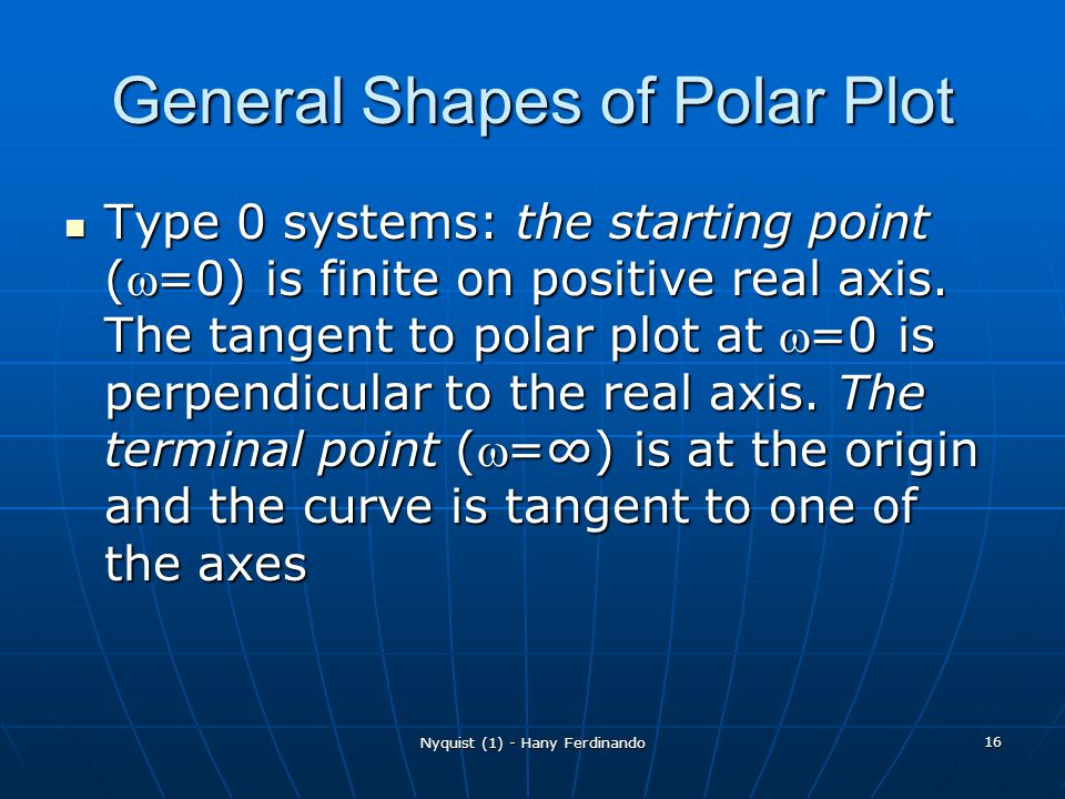 General Shapes of Polar Plot
