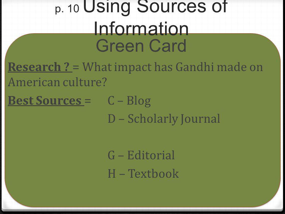 p. 10 Using Sources of Information