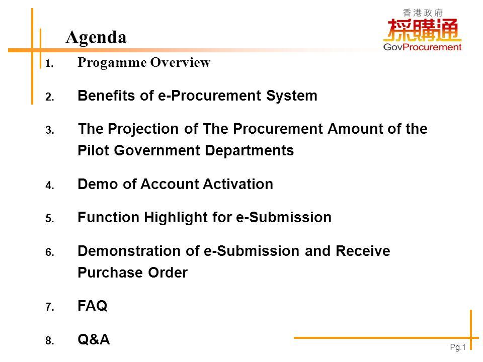 Programme Overview 3 Pilot Departments: