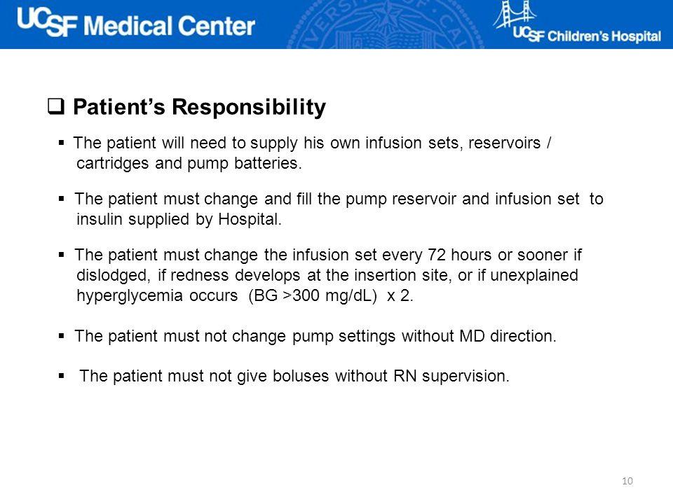 Patient's Responsibility