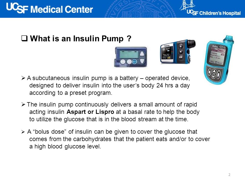 What is an Insulin Pump A subcutaneous insulin pump is a battery – operated device, designed to deliver insulin into the user's body 24 hrs a day.