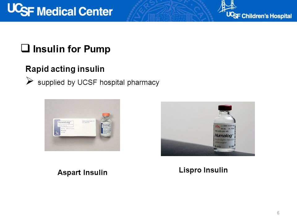 supplied by UCSF hospital pharmacy