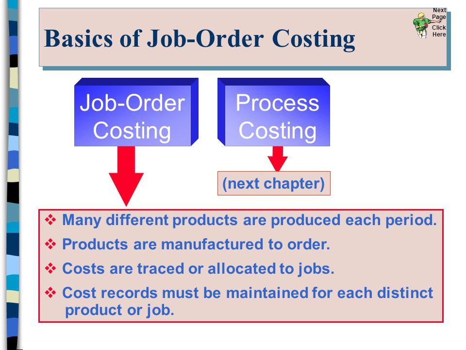 Basics of Job-Order Costing