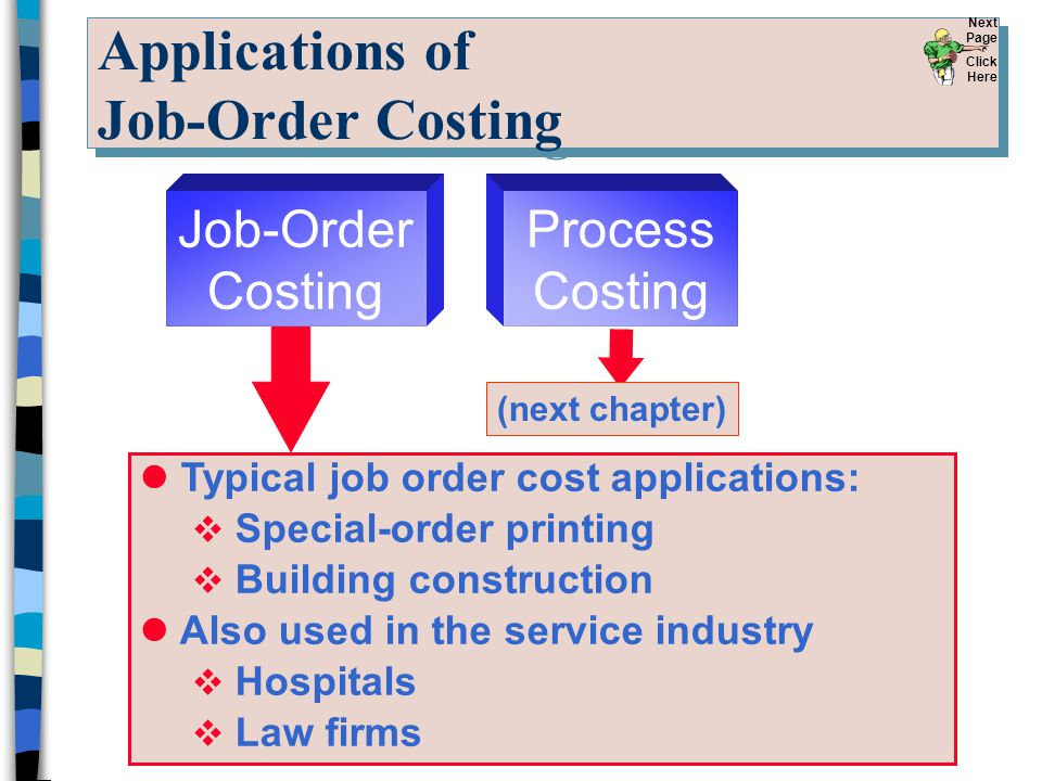 Applications of Job-Order Costing