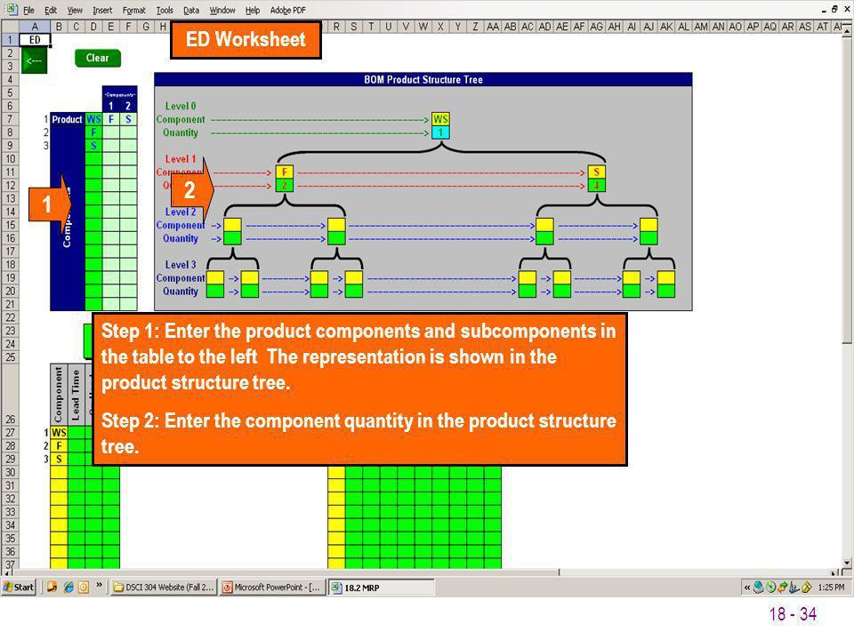 ED Worksheet 2. 1.