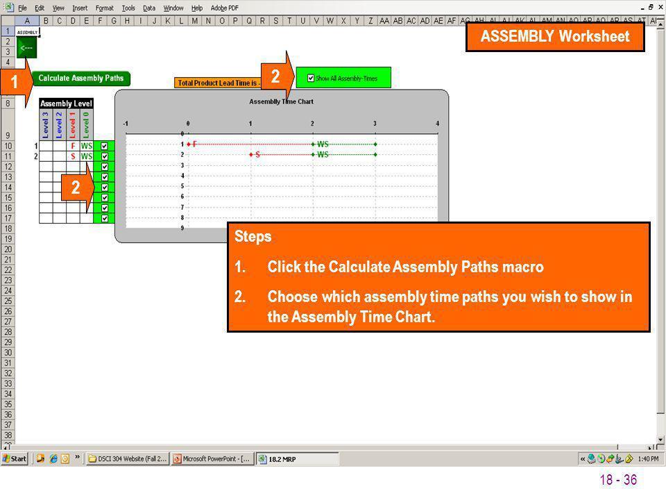 2 1 2 ASSEMBLY Worksheet Steps