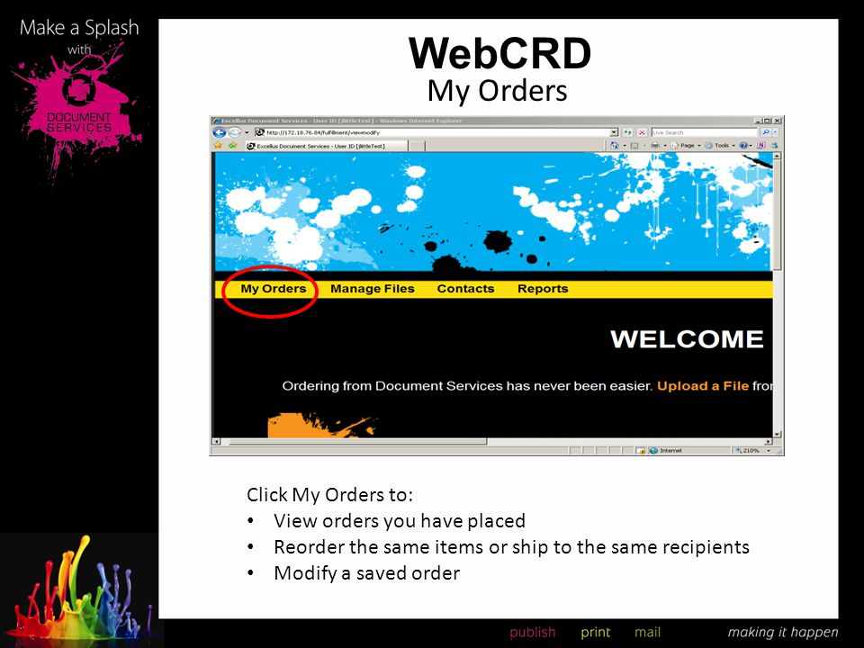 WebCRD My Orders Click My Orders to: View orders you have placed