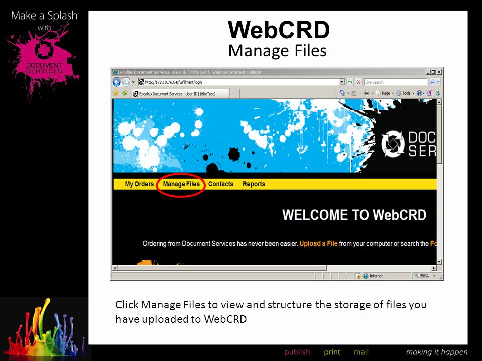 WebCRD Manage Files.
