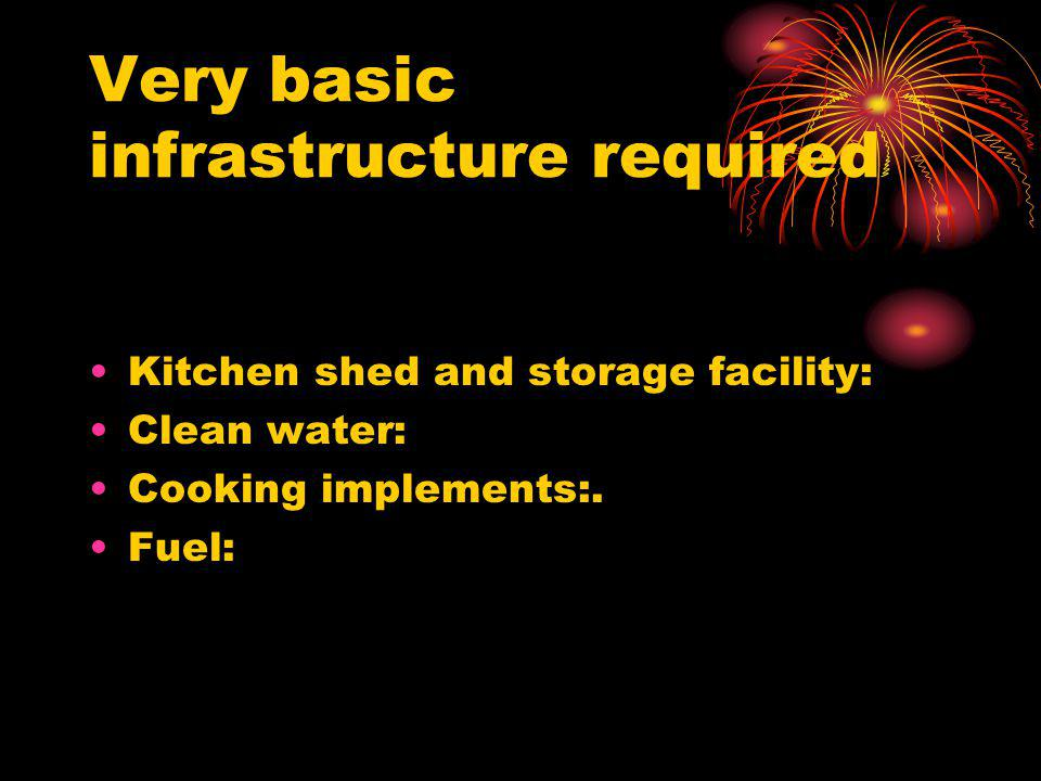 Very basic infrastructure required