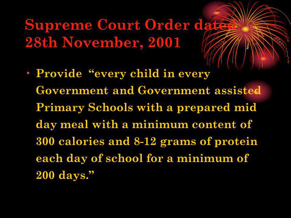 Supreme Court Order dated 28th November, 2001