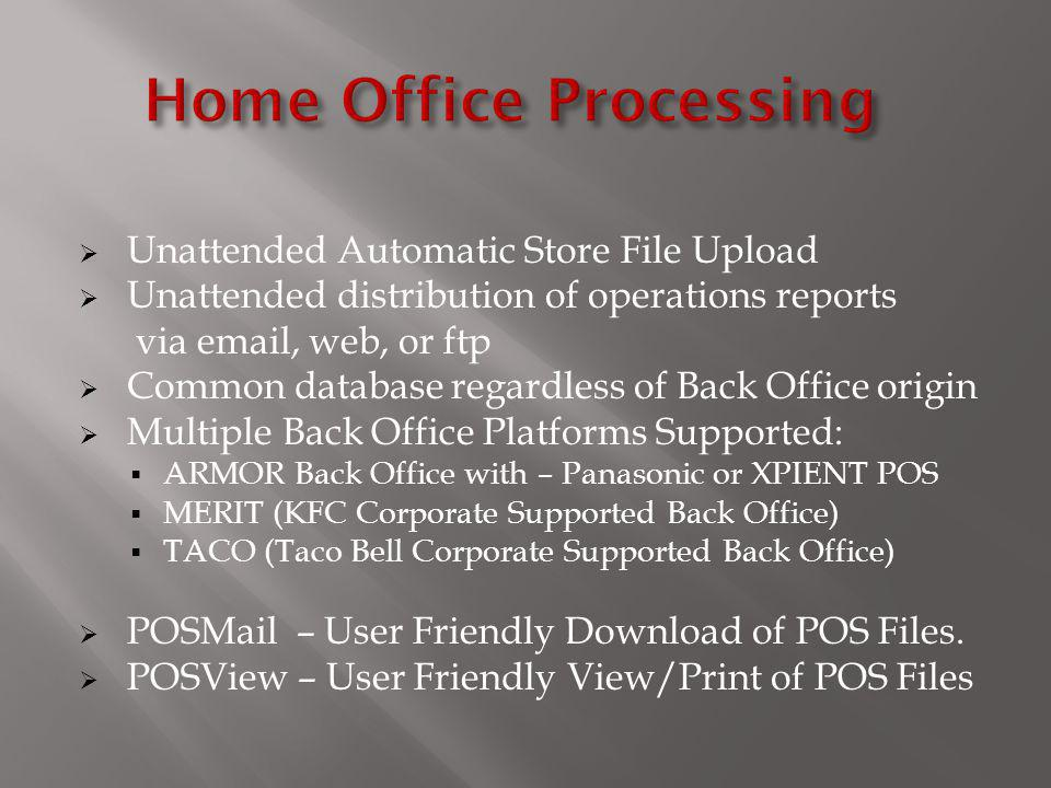 Home Office Processing