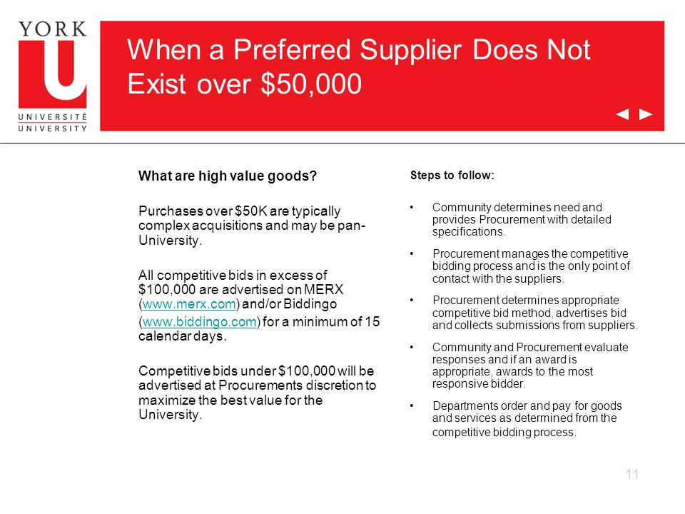 When a Preferred Supplier Does Not Exist over $50,000