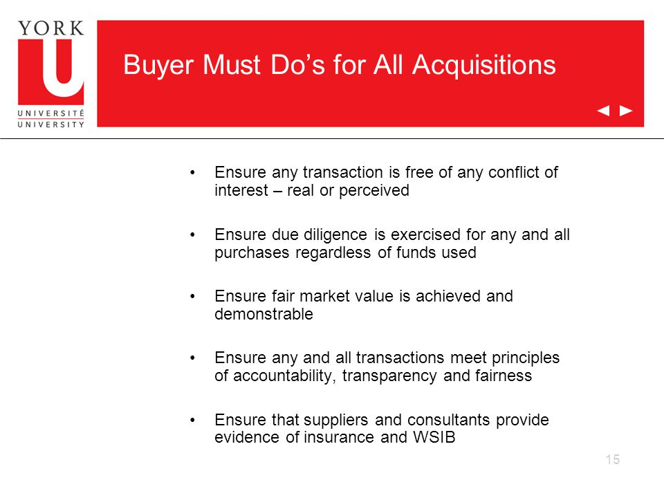 Buyer Must Do's for All Acquisitions