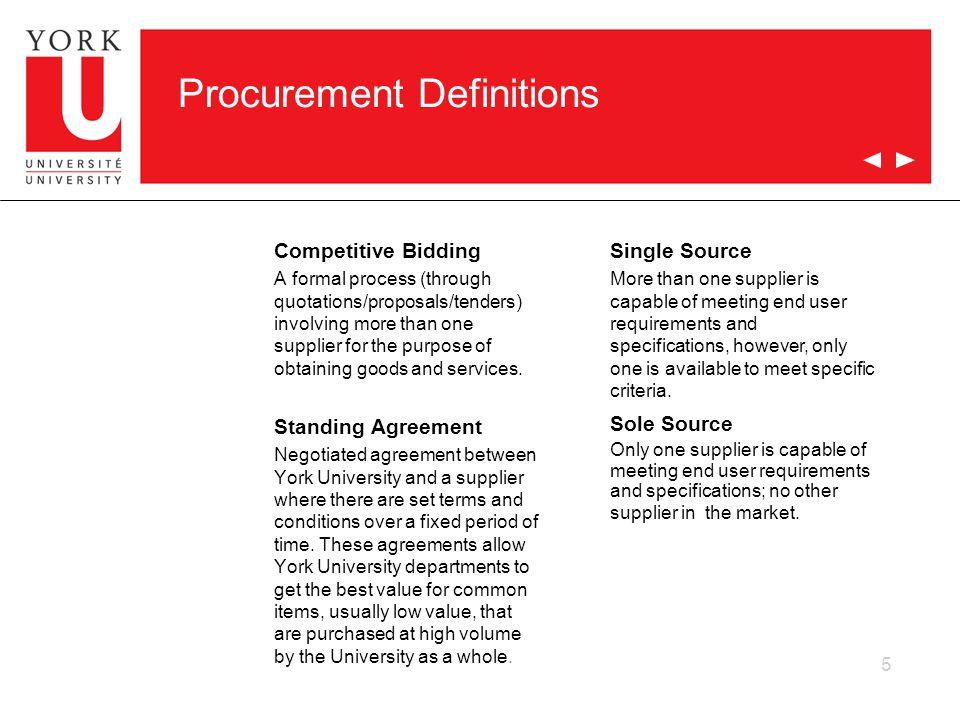 Procurement Definitions