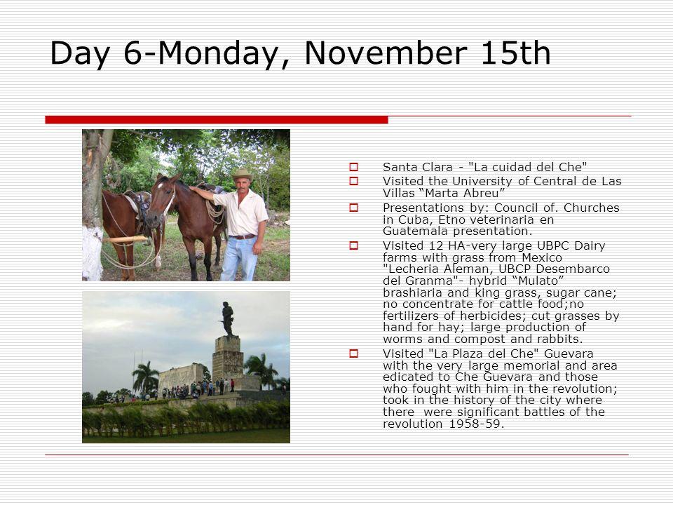 Day 6-Monday, November 15th