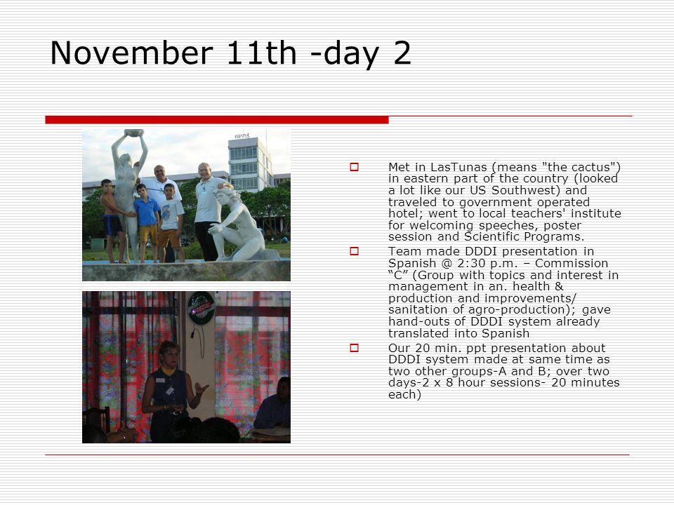 November 11th -day 2