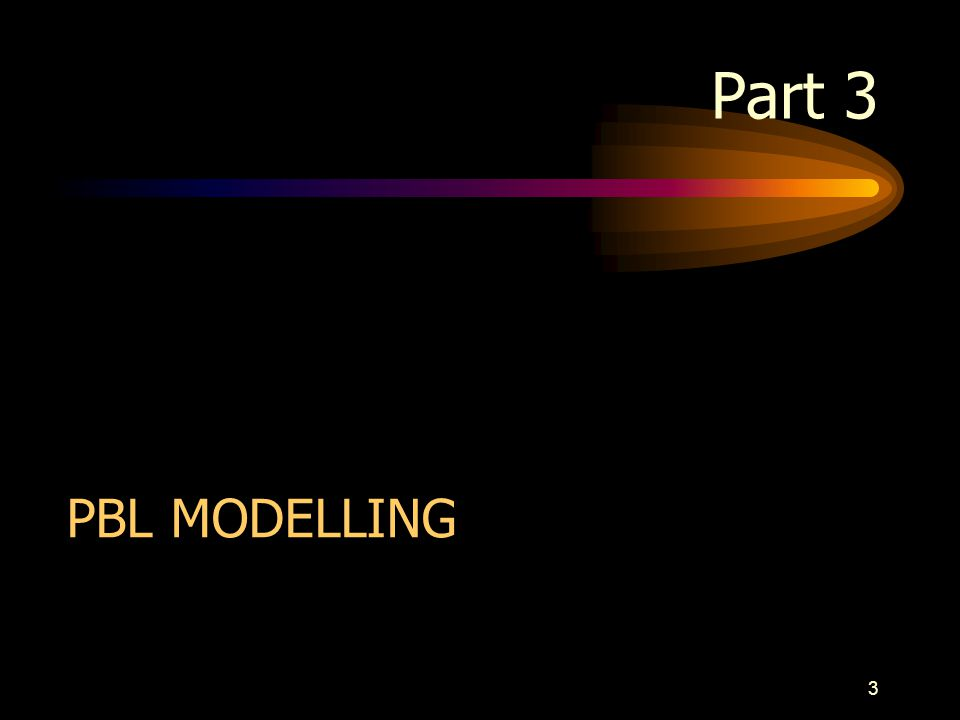 Part 3 PBL MODELLING