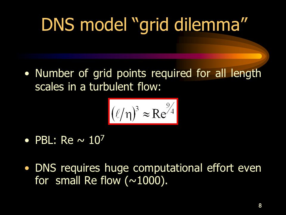 DNS model grid dilemma