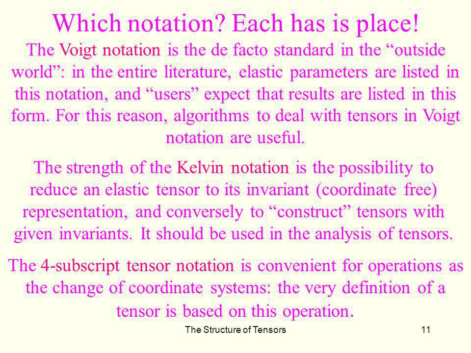 Which notation Each has is place!
