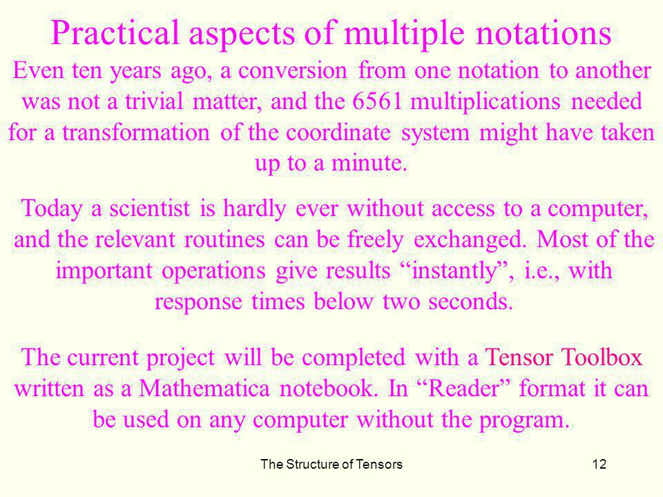 Practical aspects of multiple notations