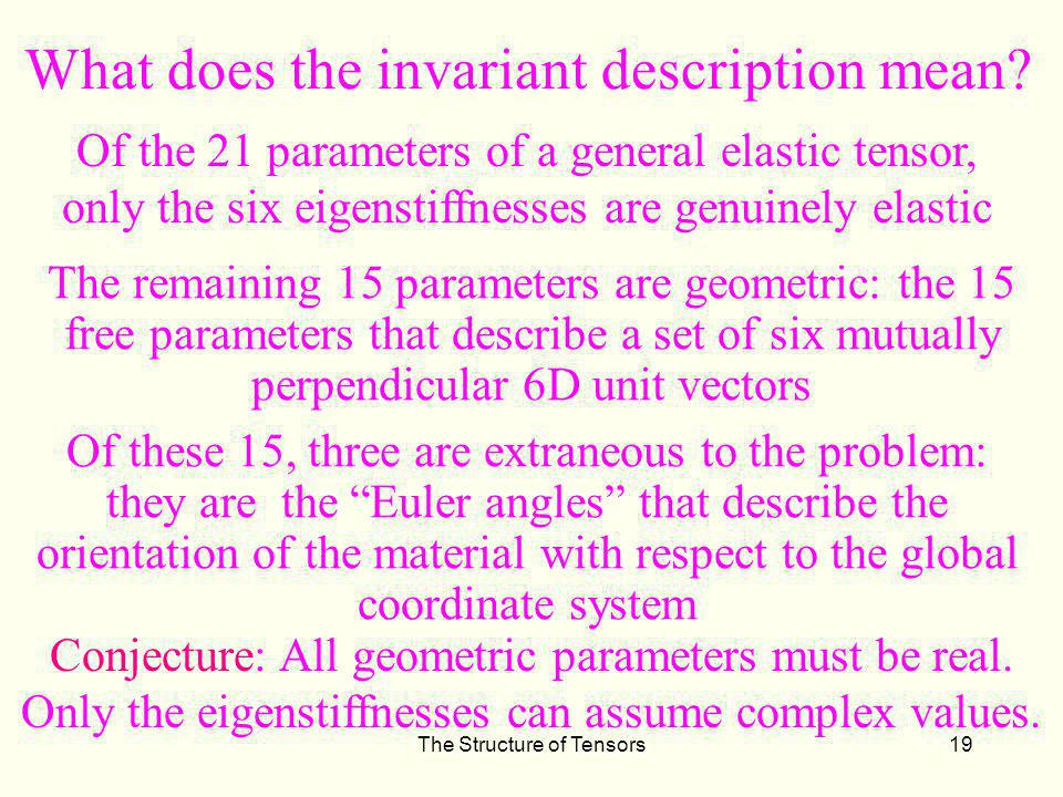 What does the invariant description mean