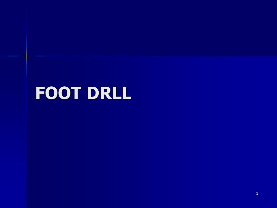 FOOT DRILL FOOT DRLL S/N 27