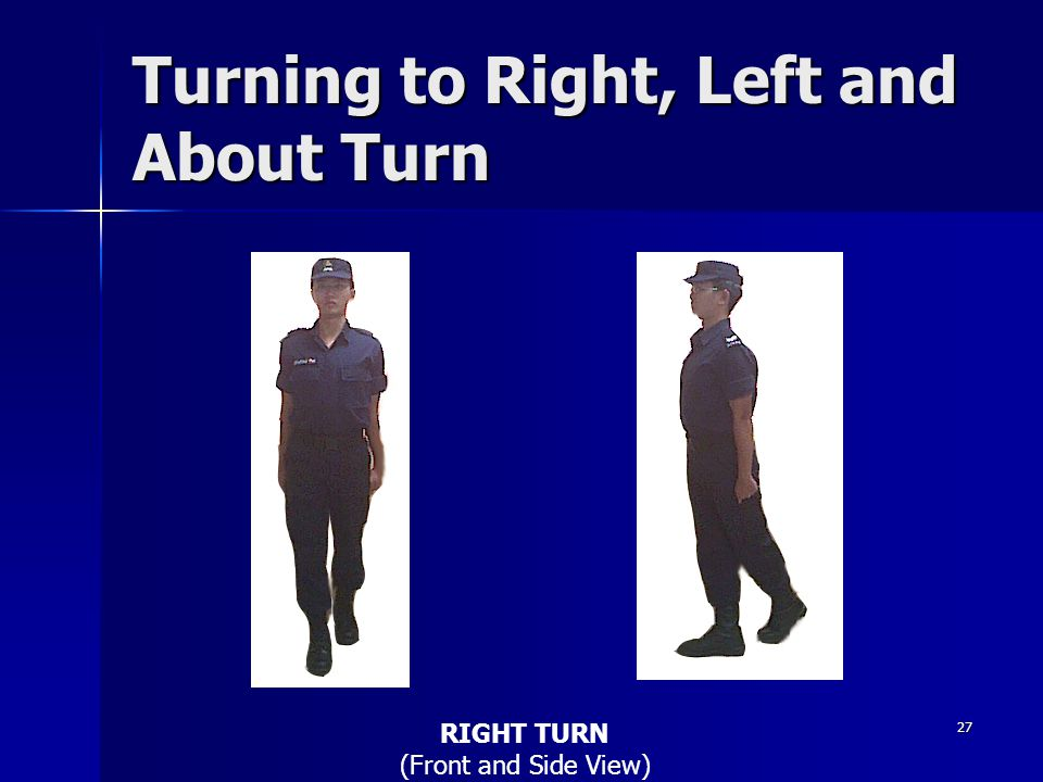 Turning to Right, Left and About Turn
