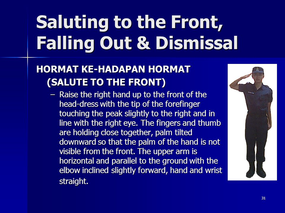 Saluting to the Front, Falling Out & Dismissal