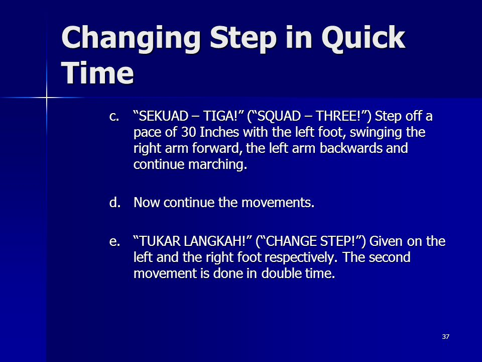 Changing Step in Quick Time