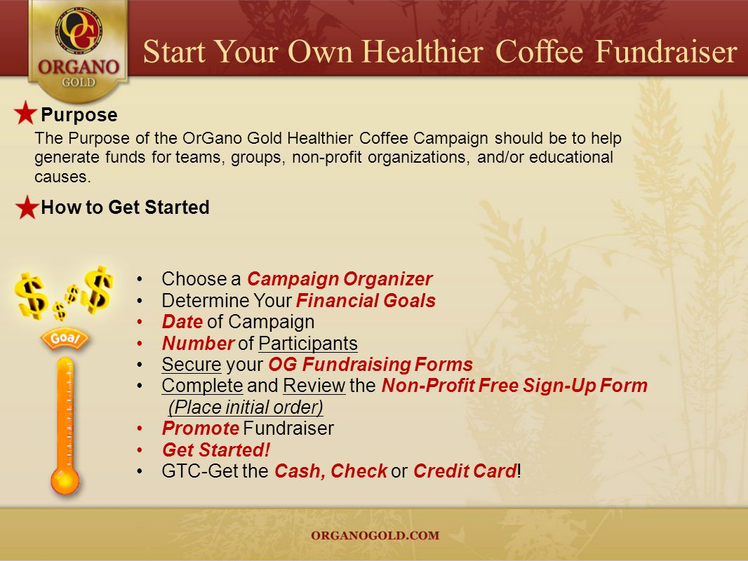 Start Your Own Healthier Coffee Fundraiser