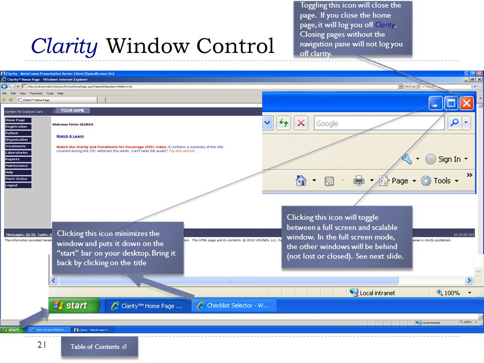 Clarity Window Control