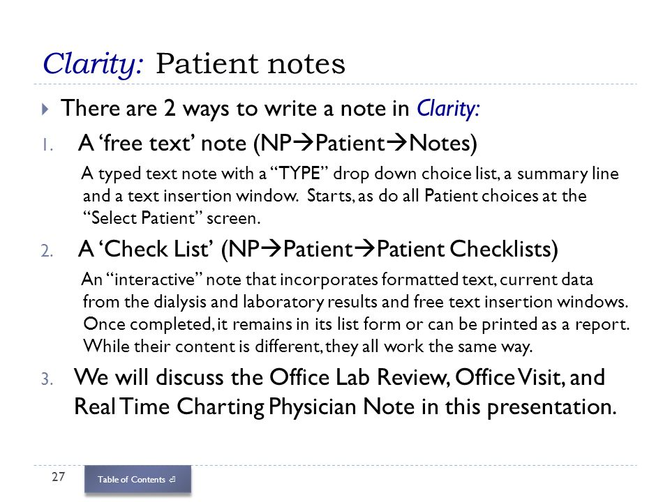 Patient Note. Click On The Image To See Sample Typed Pt Notes Usa