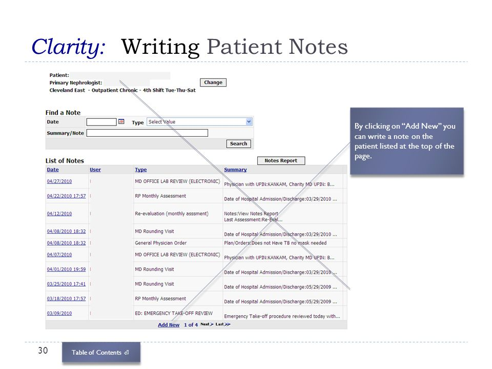 Clarity: Writing Patient Notes