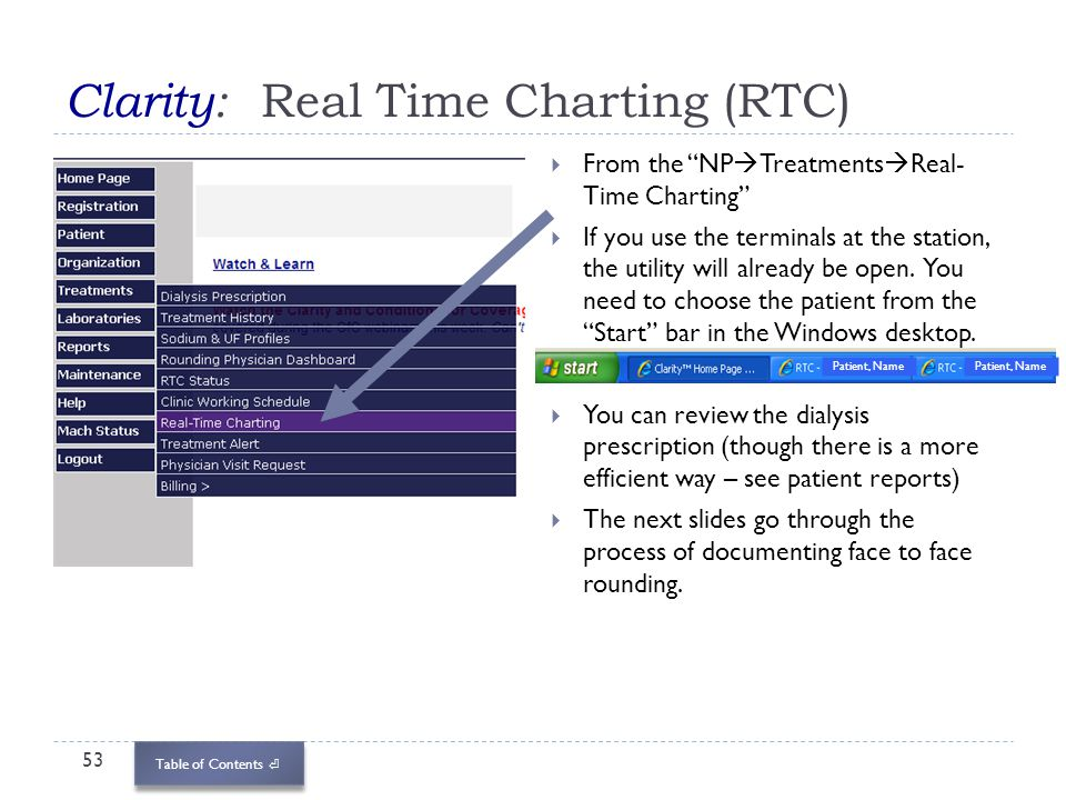 Clarity: Real Time Charting (RTC)
