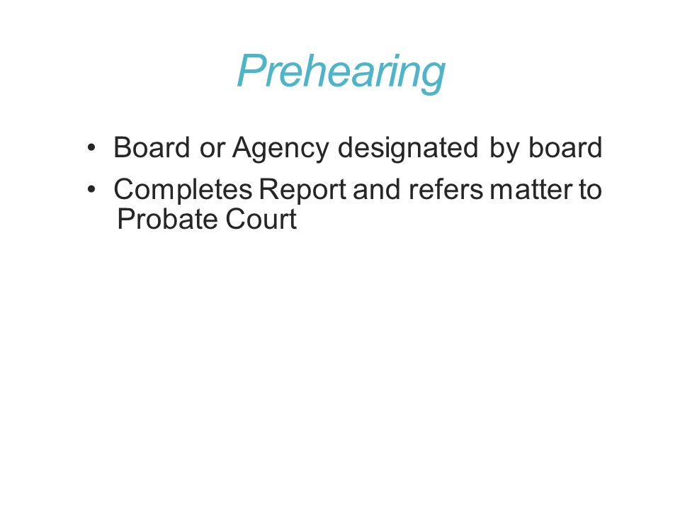 Prehearing Board or Agency designated by board