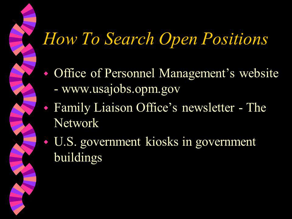 How To Search Open Positions
