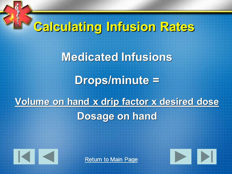 Calculating Infusion Rates