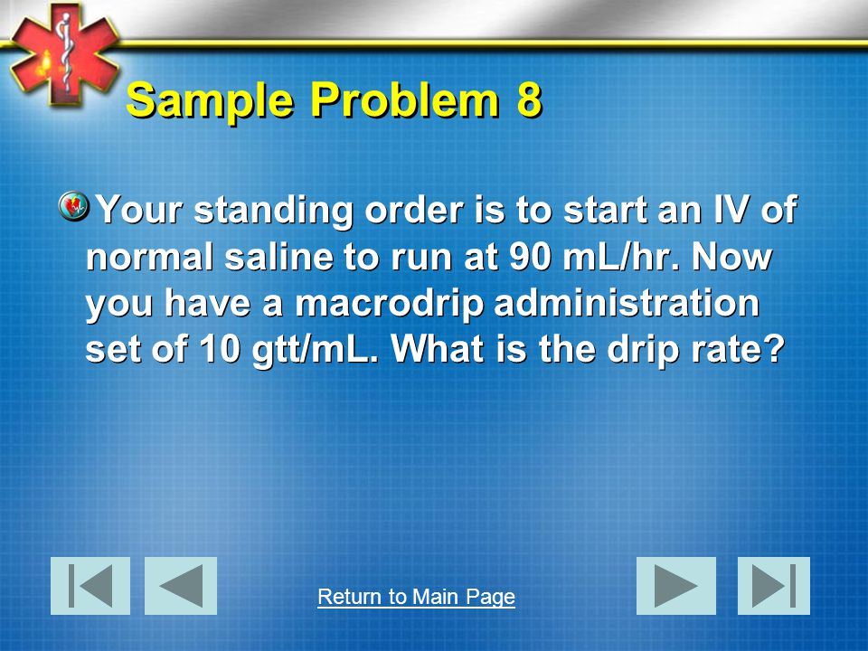 Sample Problem 8