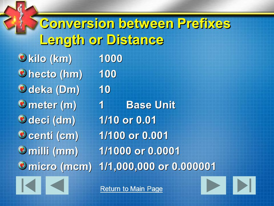 Conversion between Prefixes Length or Distance