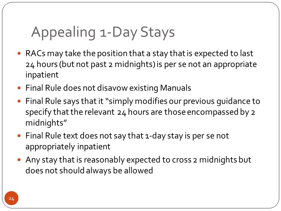 Appealing 1-Day Stays
