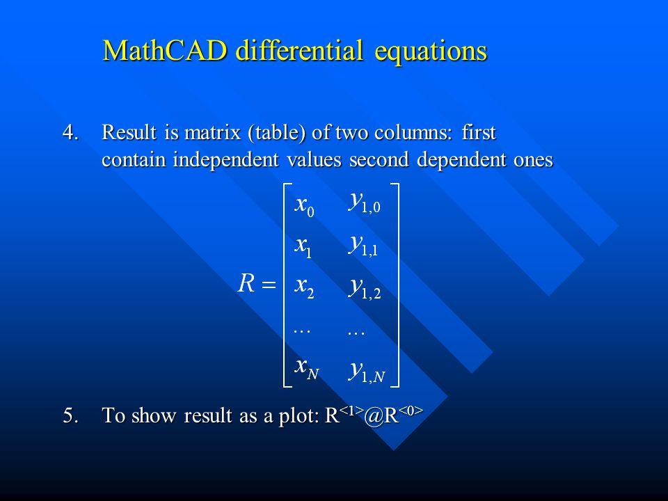MathCAD differential equations