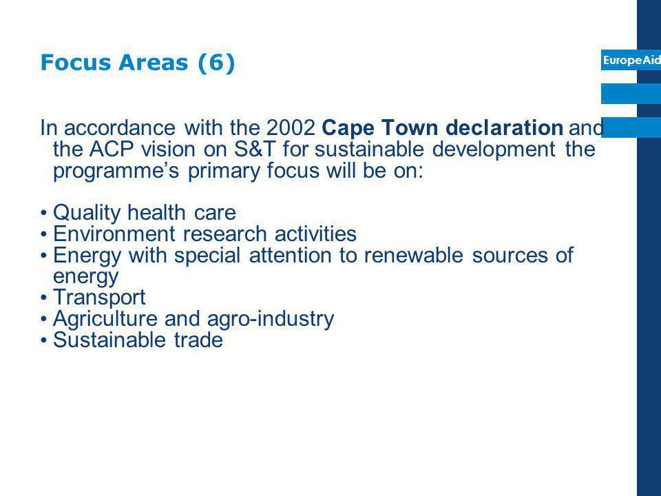 Focus Areas (6)