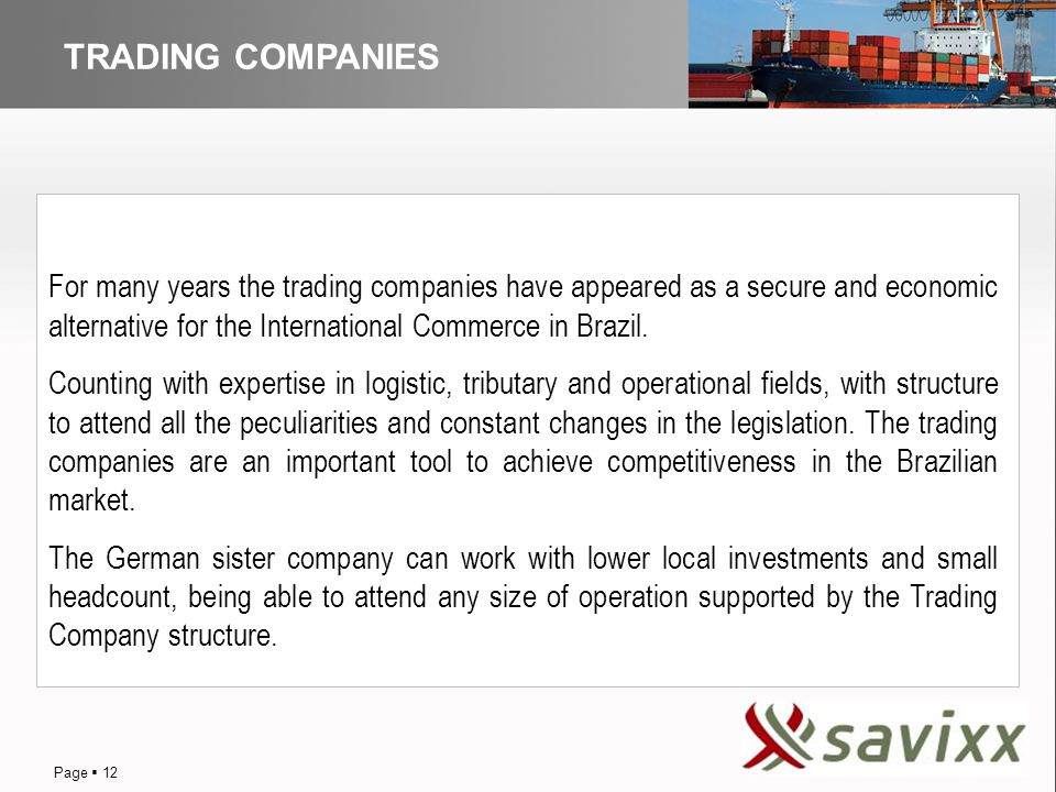 DISTRIBUTION TRADING COMPANIES