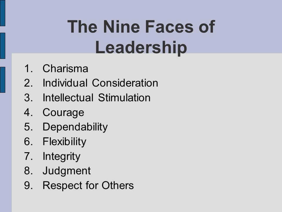 The Nine Faces of Leadership
