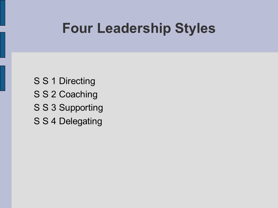 Four Leadership Styles