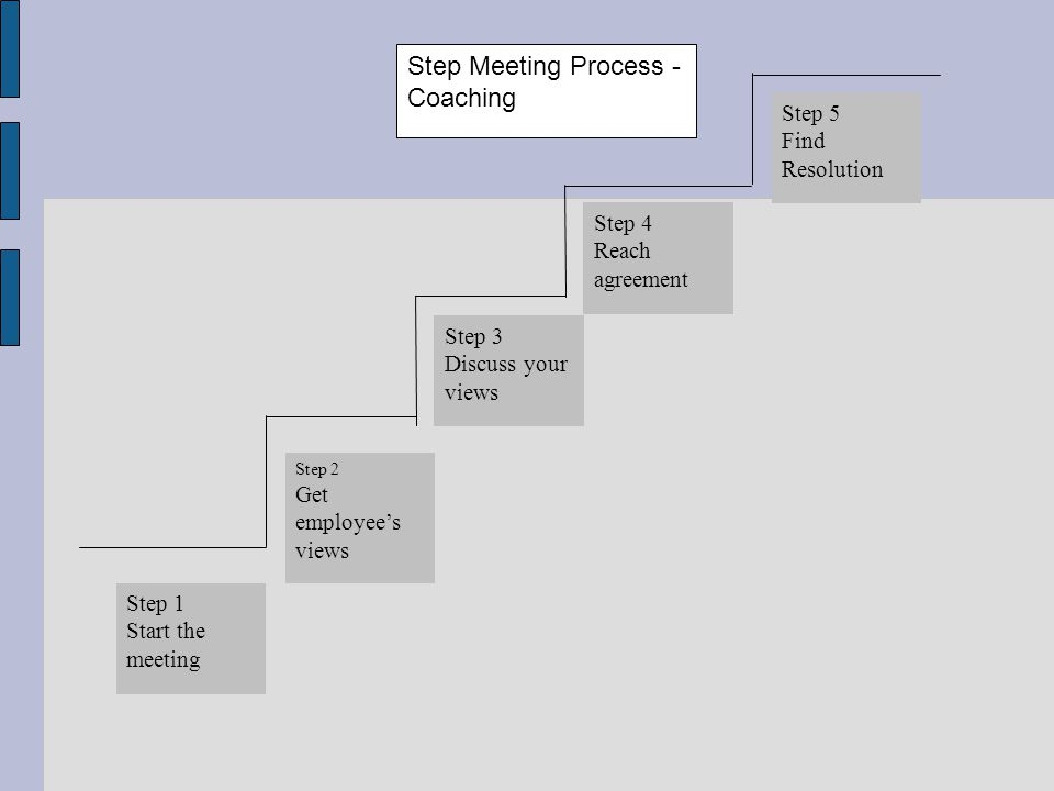 Step Meeting Process - Coaching
