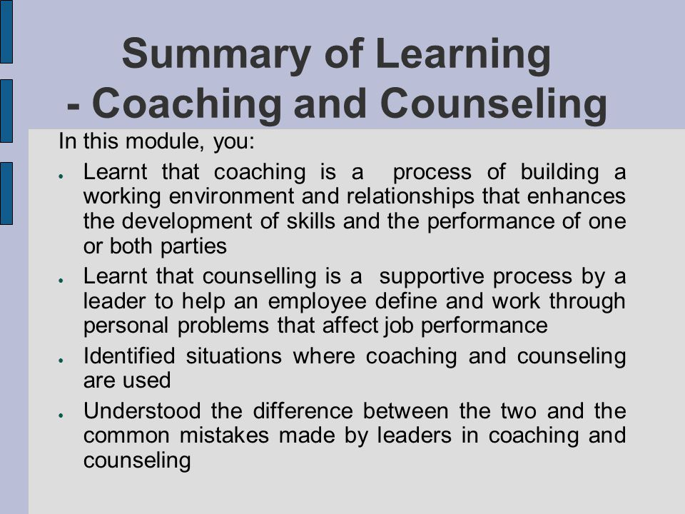 learning review counselling Learning review 09/10/12 bukky counseling level 3 the topic for today in class was anti-discrimination we cover the topic of an effective counselor and qualities of an effective counselor.