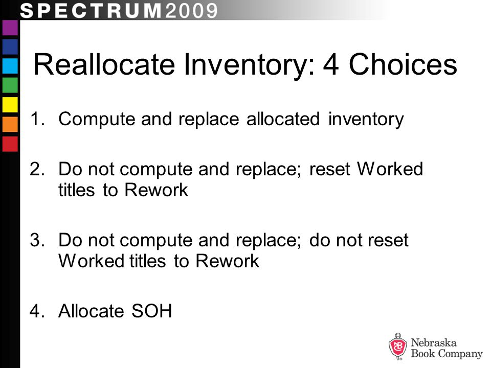 Reallocate Inventory: 4 Choices