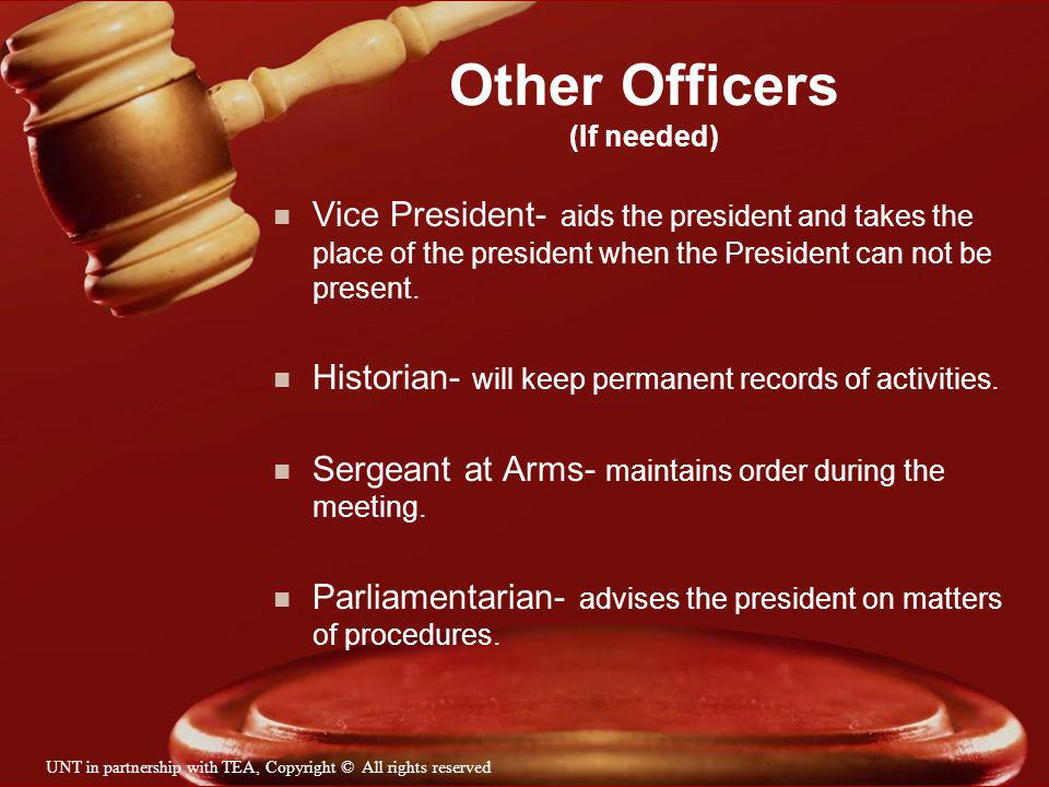 Other Officers (If needed)